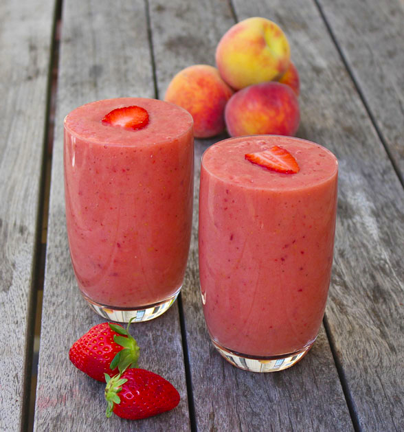 ... of the Best Summer Smoothie Recipes – Peach and Strawberry Smoothie