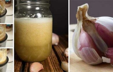raw garlic juice