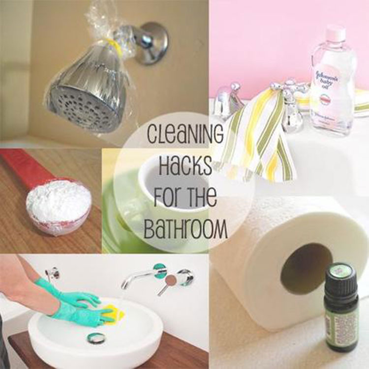 bathroom cleaning hacks - Bathroom Cleaning Hacks